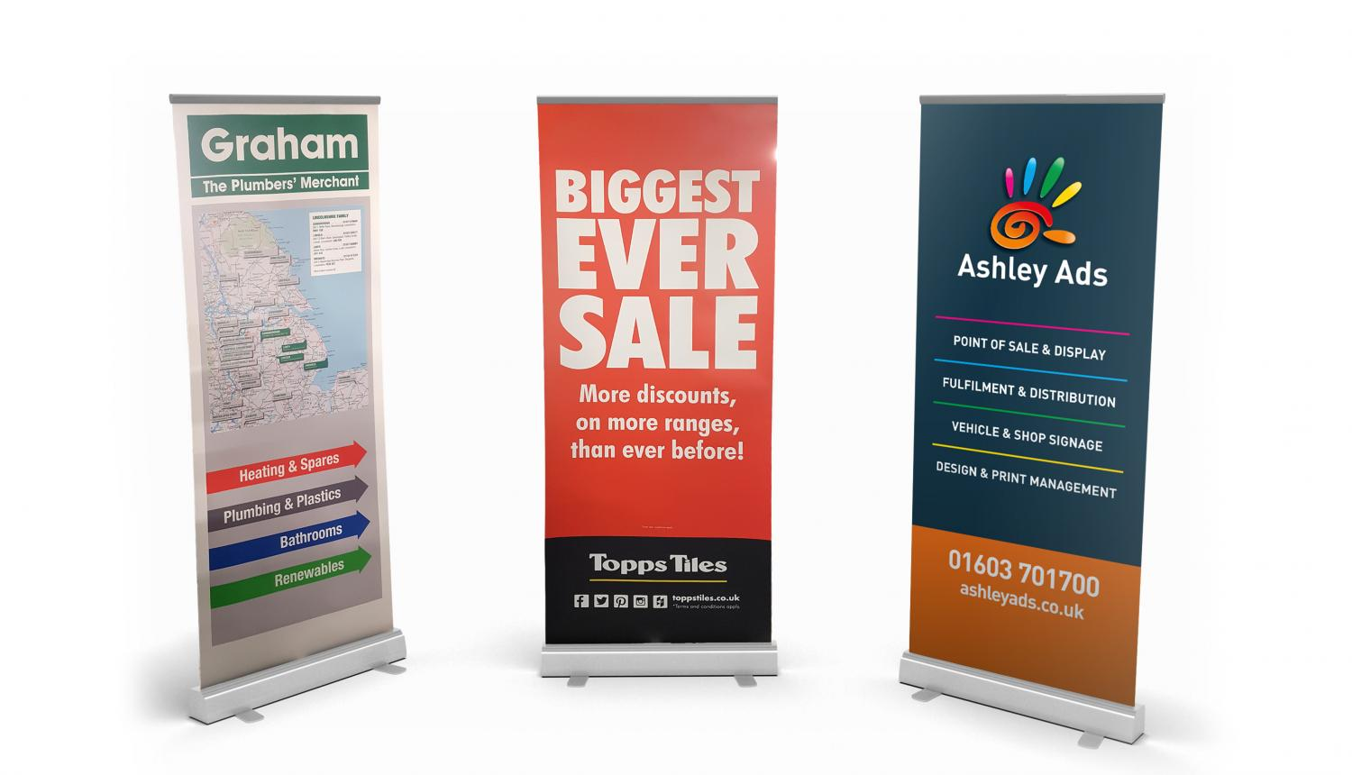 Pull up banners with AA Banner