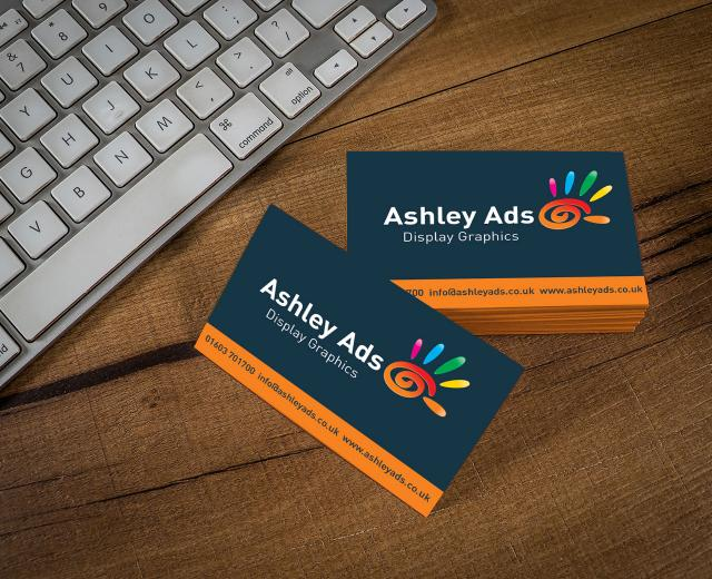 Ashley Ads print feature image business cards
